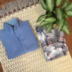 Forget Me Not Blue Fleece Vest/Cozy Outdoors